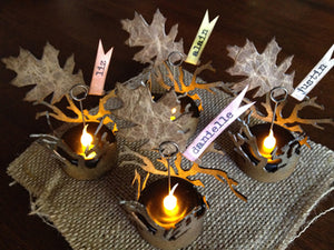 Distress Illuminated Autumn Place Cards