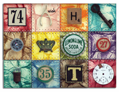 """Distress Mosaic"" Card By Tim Holtz"