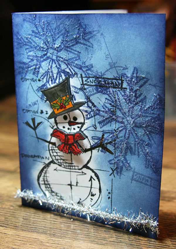 Distress Snowman Card