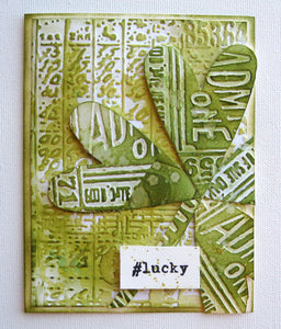 Distress St. Patrick's Day Card by Mou Saha