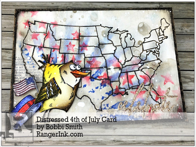Distressed 4th of July Card by Bobbi Smith