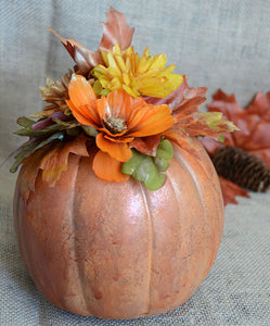 Distressed Pumpkin Home Décor Project by May Flaum