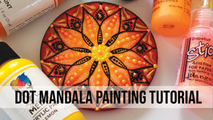 Dot Mandala Painting Tutorial by Iryna Swartz