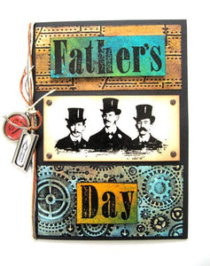 Double Embossed Father's Day Card by Linda Cain