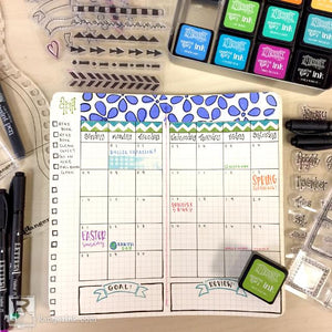 Dyalog Monthly Bullet Journal Spread by Taylor Huizenga