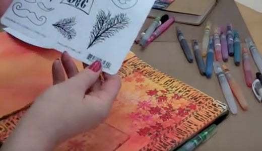 Dylusions Art Journaling: Creating a Page (Part 1 of 2)