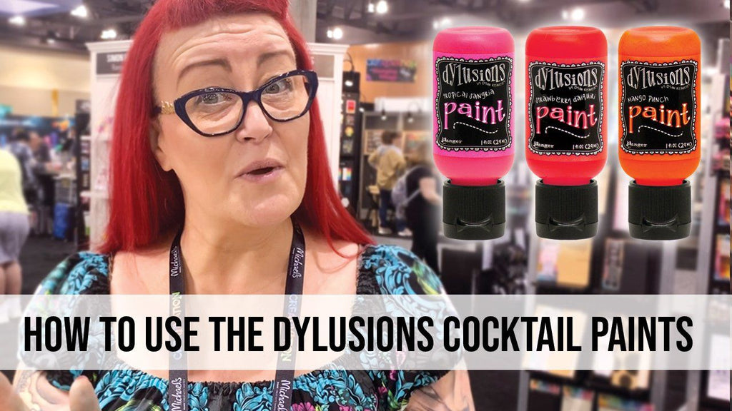 How to use the Dylusions Cocktail Paints to Create a Background