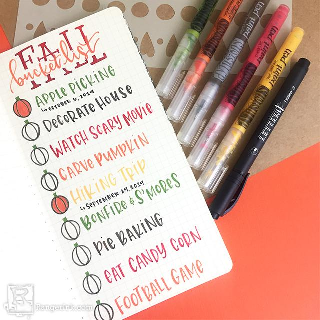Dylusions Dyalog Fall Bucket List by Taylor Huizenga