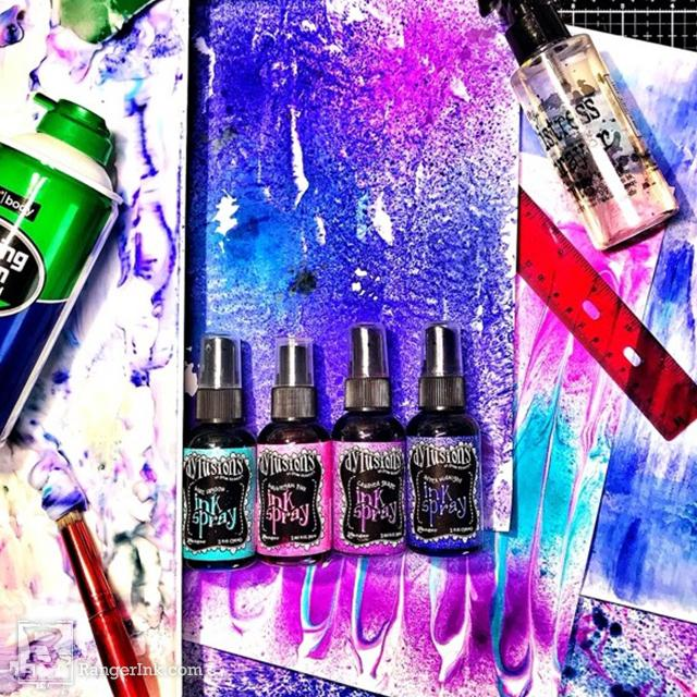 Dylusions Ink Spray Shaving Cream Backgrounds by Renae Davis