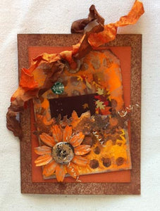Dylusions/Distress Autumn Gift Card Holder