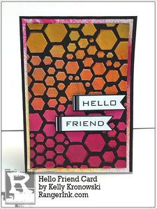 Dylusions Hello Friend Card