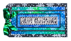 Dylusions Merry Christmas Tag by Debbie Tlach