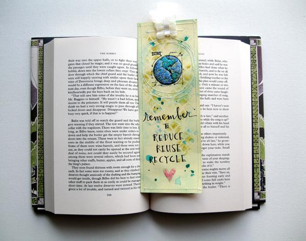 Earth Day Bookmark by Mou Saha