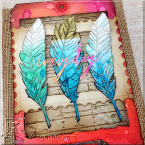 Everyday Ombre Feather Burlap Panel by Bobbi Smith