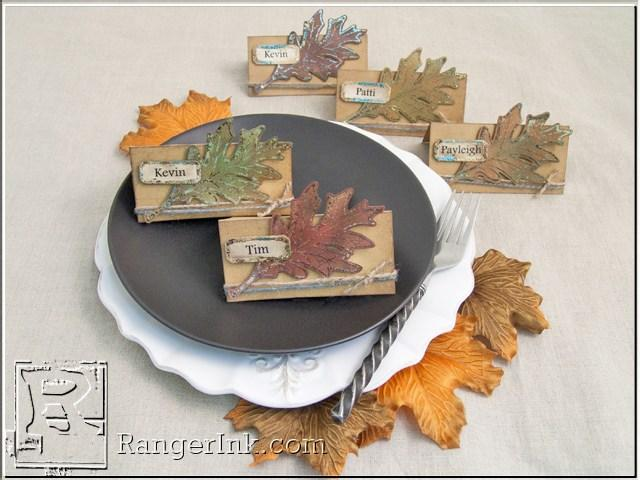 Fall Foliage Place Cards by Patti Behan