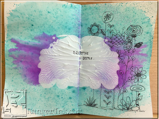 Fast and Fun Symmetrical Art Journal Background by Stephenie Hamen