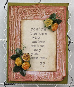 Faux Porcelain UTEE Mother's Day Card