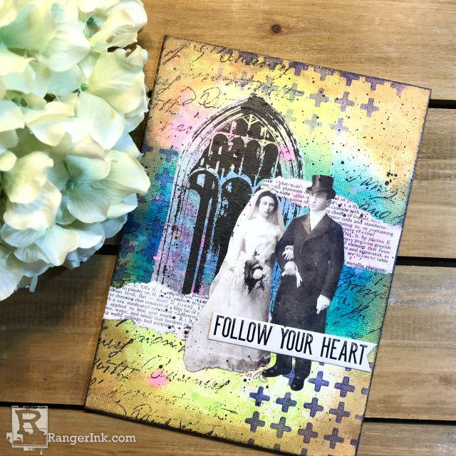 Tim Holtz Distress® Follow Your Heart Media Board by Theresa Hammond