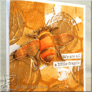 Fragile Bee Mixed Media Card by Jenn Shurkus