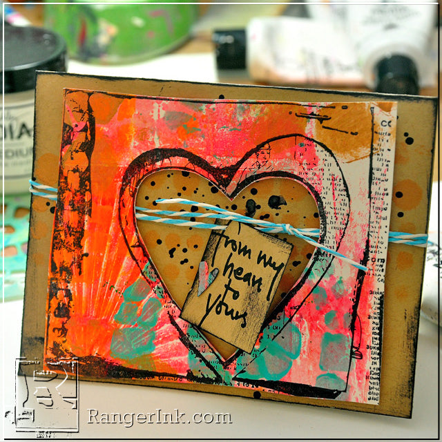 From My Heart Card by Dina Wakley