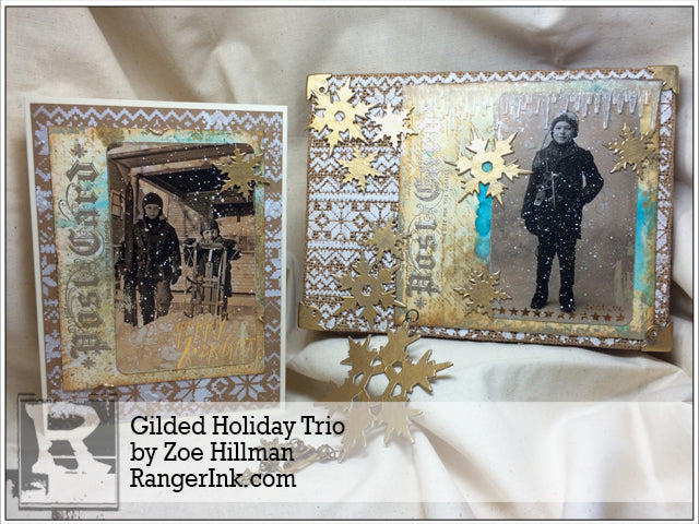 Gilded Holiday Trio By Zoe Hillman