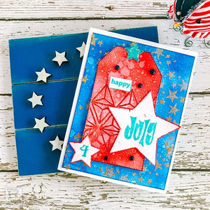Glazed 4th of July Card by Betz Golden