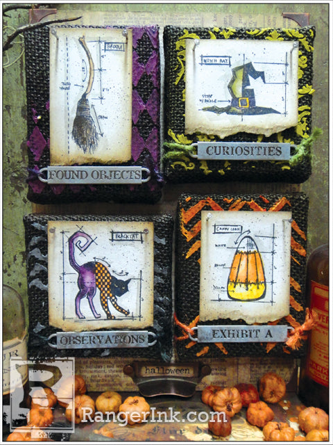 Halloween Burlap Panels by Tim Holtz