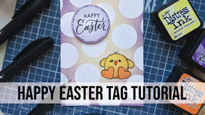 Happy Easter Craft Tag Tutorial