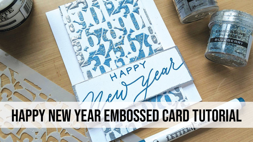 Happy New Year Embossed Card