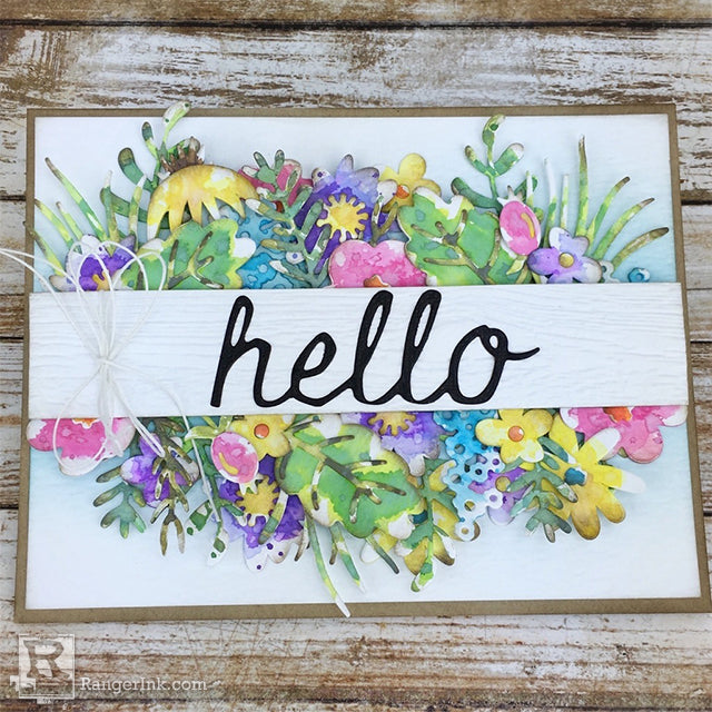 Hello Spring Distress Oxide Card by Bobbi Smith