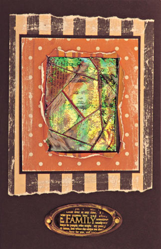 Holographic Mosaic UTEE Card By Judi Hayes