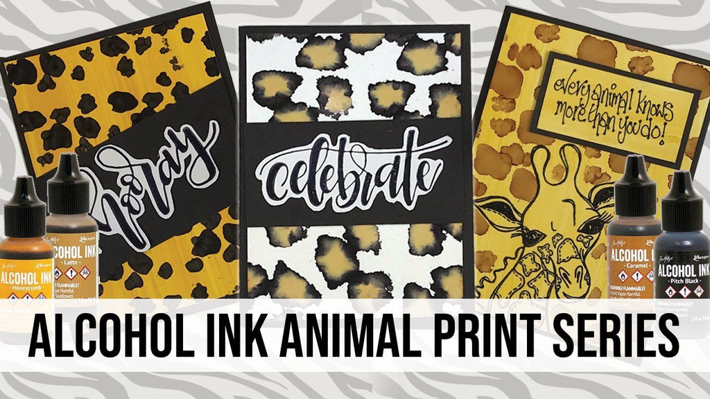 Alcohol Ink Animal Print Series: Leopard