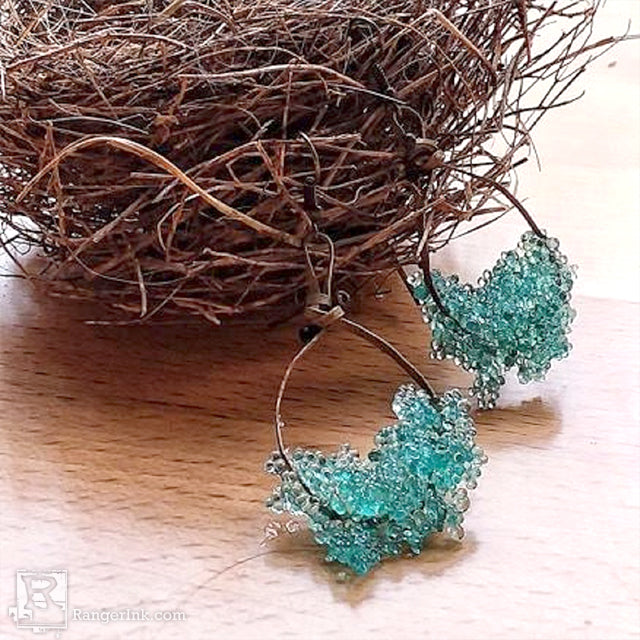 ICE Resin® Bubbles Earrings by Brooke Bock