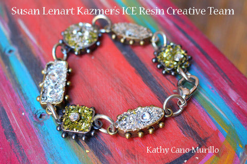 ICE Resin® German Glass Glitter Bracelet by Kathy Cano-Murillo