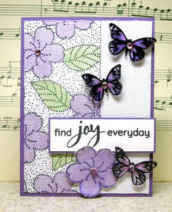 Inkssentials Shrink Plastic Joyful Butterflies ATC