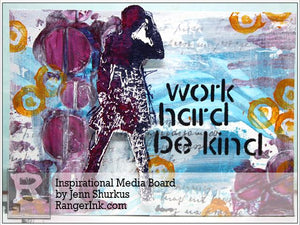 Inspirational Media Board by Jenn Shurkus