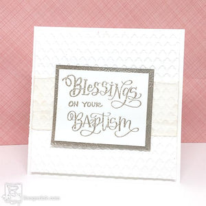 Letter It™ Baptism Card by Taylor Huizenga
