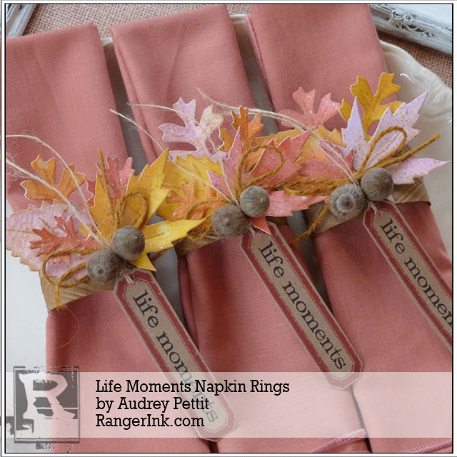 Life Moments Napkin Rings by Audrey Pettit