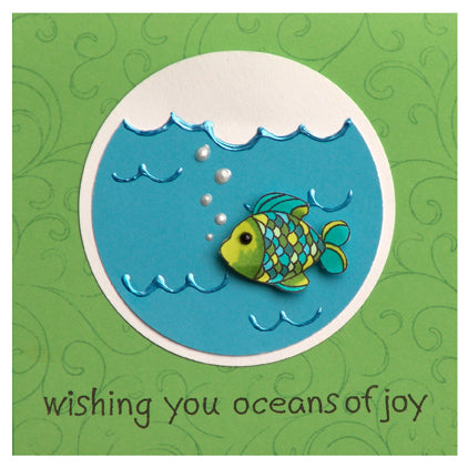 Liquid Pearls™ Oceans of Joy Card By Jennifer McGuire