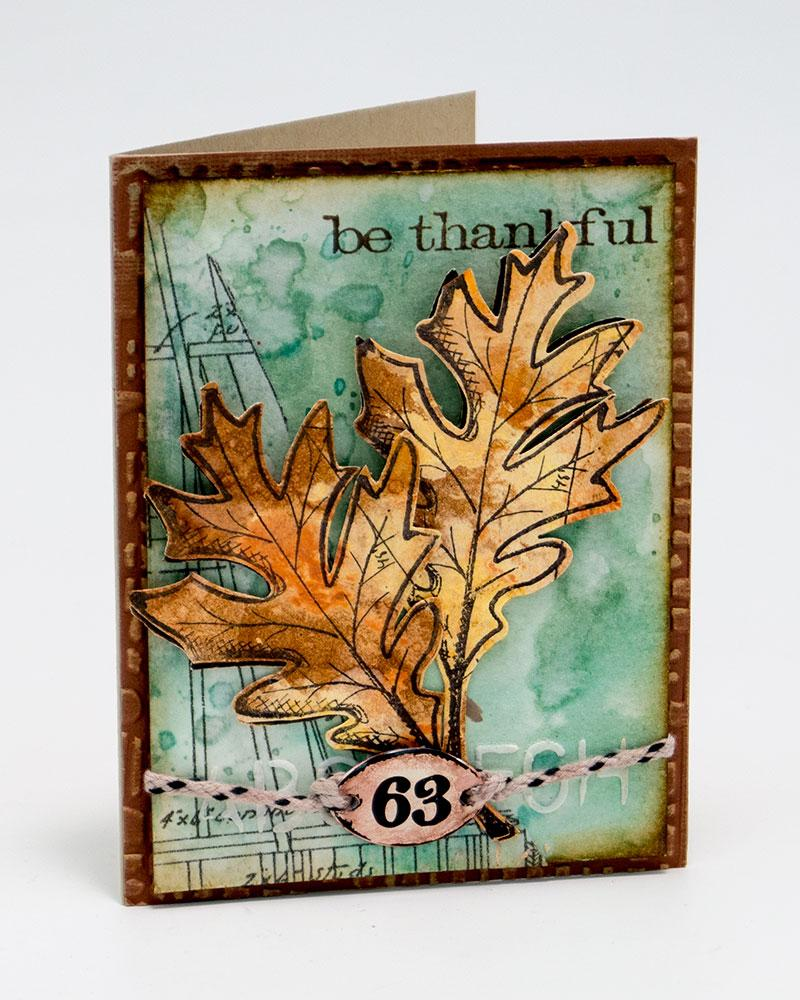Liquid Pearls Be Thankful Card