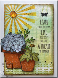Live for Today Mixed Media Canvas by Wendy Vecchi