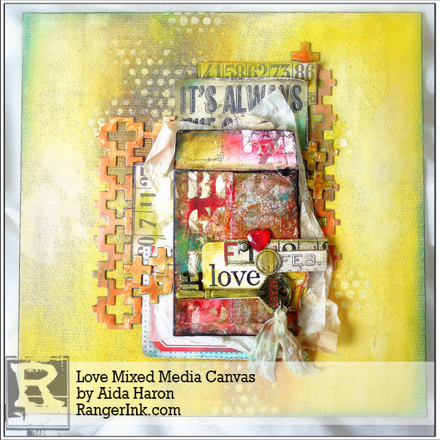 Love Mixed Media Canvas by Aida Haron