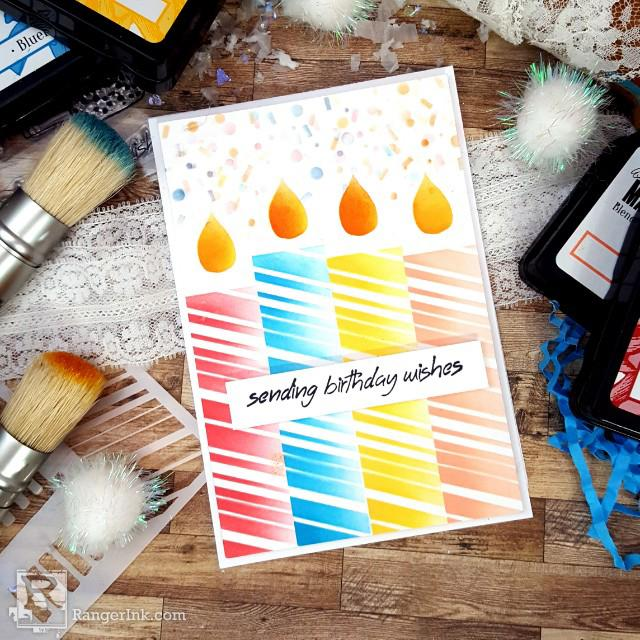 Mega Candle Card by Terri Burson