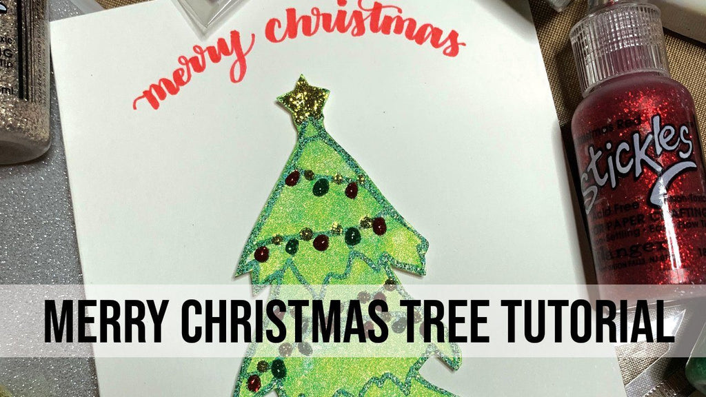 Merry Christmas Tree Card Tutorial