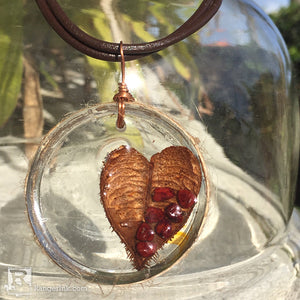 ICE Resin® Prickly Heart Necklace by Milagros Rivera