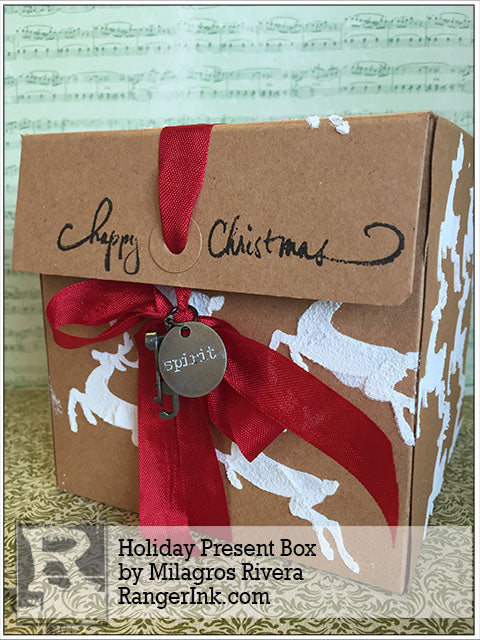 Holiday Present Box by Milagros Rivera