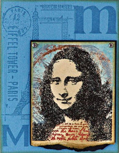 Mona Collage Card By Tim Holtz