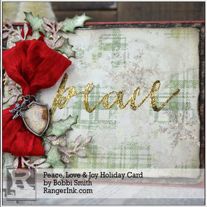 Peace, Love and Joy Holiday Card by Bobbi Smith