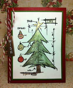 Perfect Pearls Christmas Tree Card