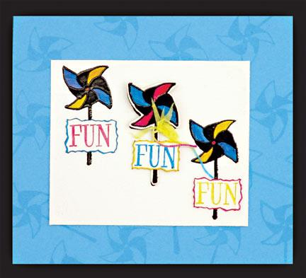 Perfect Medium™ Pinwheel Card By Bonnie Egenton